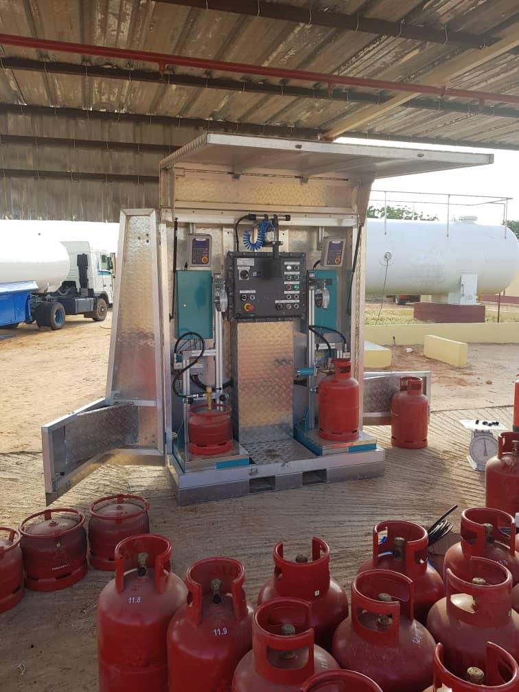station de remplissage bouteille de gaz