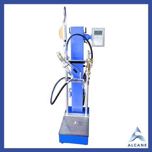 alcane bouteille de gaz fuel gpl Filing machine type WAER mechanical Balance de remplissage électronique avec tête de remplissage manuelle