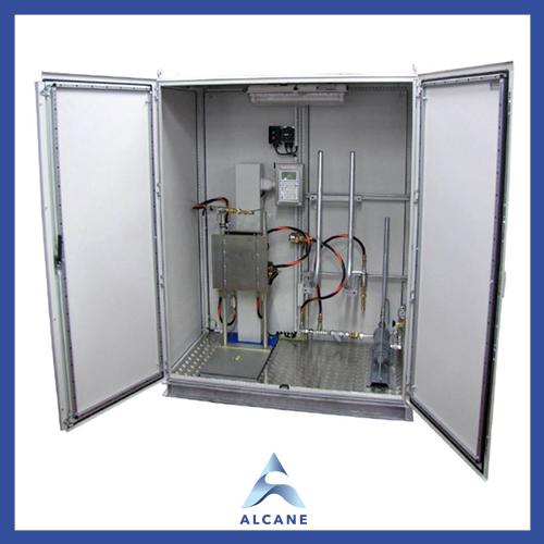 alcane bouteille de gaz fuel gpl Compact filling station in Safety Cabinet Station de remplissage compacte dans une armoire de sécurité
