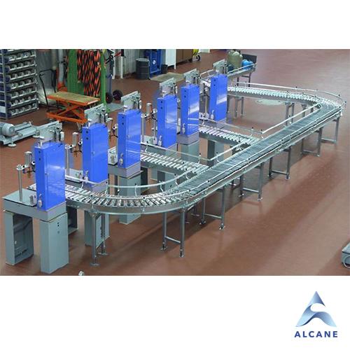alcane bouteille de gaz fuel gpl Inline station with Roller conveyor Station en ligne avec convoyeur à rouleaux