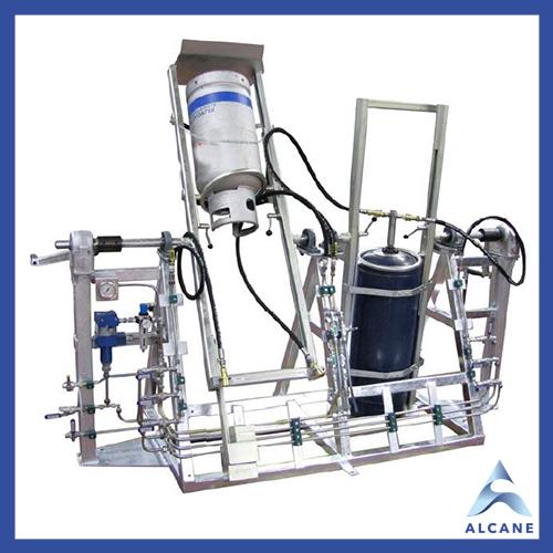 alcane bouteille de gaz fuel gpl Manual hydrostatic stand Support hydrostatique manuel